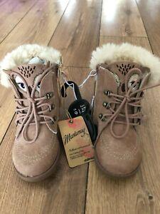 Debenhams Mantaray Girl's Owl Pink Boots UK Size 9 EU 27 New With Tags
