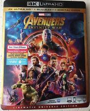 Avengers Infinity Wars (4K UHD + Blu-Ray +Digital) 2018 w/SLIP COVER *FREE SHIP*