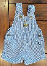 Baby Boy Clothes Made U.S.A. Vintage Oshkosh 2T Blue & White Pinstripe Shortalls