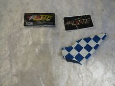 FLITE BLUE CHECKERED SCOTTS BRAKE LEVER COVER NOS RACE BMX CRUISER FREESTYLE