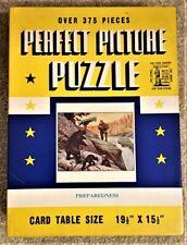 """Perfect Picture Puzzle """"Preparedness"""" Vintage Hunting Scene"""
