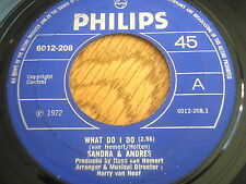 "SANDRA & ANDRES - WHAT DO I DO      7"" VINYL"