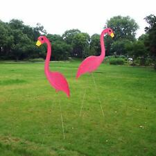"2 Pack 36"" Pink Flamingos Plastic Yard Garden Lawn Art Ornaments Retro Stakes"