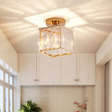 Crystal 7W LED Ceiling Light Fixture Surface Mounted Lamp Gold Living Room Hotel