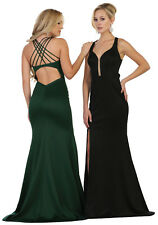 DESIGNER SEMI FORMAL PROM DRESS SEXY SPECIAL OCCASION SIMPLE EVENING FITTED GOWN