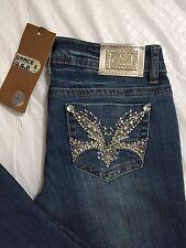 Grace In LA GLA Jeans Womens Size 5 Bootcut Medium Blue Embellished Bling NWT