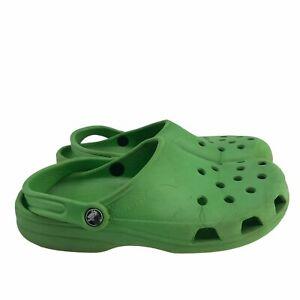 Crocs Men's Classic Clogs Sz 9-9.5 Sandals Green Slingback Slip On Slide