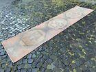 Handmade wool rug, Turkish vintage runner rug, Decor rug | 2,7 x 11,5 ft