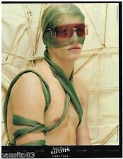 PUBLICITE ADVERTISING 105  2002  JEAN -PAUL GAULTIER   collection lunettes solai