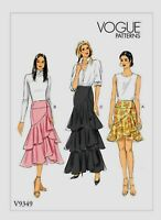 V9349 Vogue Skirt Sewing Pattern Sizes 14-22 Rated Easy to Make
