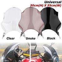 Motorcycle Round Windshield Windscreen Headlight Fairing For Honda Yamaha Suzuki