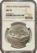 1994-W US P.O.W. Prisoner of War Commemorative BU Silver Dollar - PCGS MS70