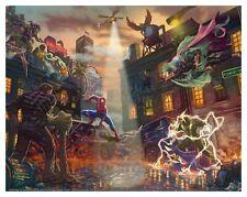 Thomas Kinkade Studios Spider-Man vs. the Sinister Six 11 x 14 Art Print