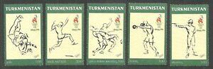 TURKMENISTAN 1996 OLYMPICS ATLANTA BOXING JUDO WRESTLING SHOOTING SET MNH