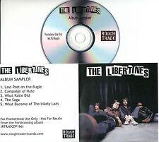 THE LIBERTINES Album Sampler 2004 UK 5-track promo test CD