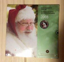 2008 Canada 25 Cents Coloured Coin - Santa Claus - Holiday - 7 Coins Set