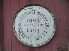 """Rare 1994 Tamnavulin Whisky Barrel lid 25"""" wide Braced and ready to hang"""