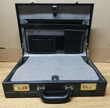 "Vintage black Briefcase Laptop 17-1/2"" X 14"" X 4"" New"