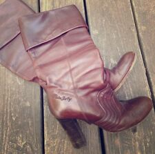 MISS SIXTY Retro Vintage Boho Hippie Cuff or Over-Knee High Tall Leather Boots 7