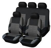Komplettset Schonbezüge Grau Sitzbezüge Hochwertig Komfort für