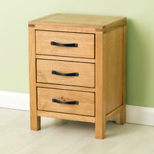 Abbey Oak Bedside Table / Waxed Oak Side Table / Solid Wood bedside Cabinet