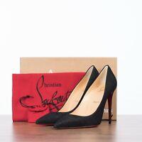 CHRISTIAN LOUBOUTIN 745$ KATE 100 In Black Glitter