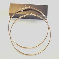 Jewelry Hoops Thin Girls Metal Silver Plated Large Hoop Smooth Big Earrings
