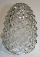 "Vintage Pineapple Clear Glass Light Fixture Cover 5 1/2"" Tall"