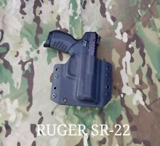 Ruger SR22 Kydex Holster Outside Waistband Black  22 Long Rifle