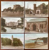 6 x Co Antrim Vintage Postcards Northern Ireland 1930s