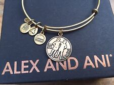 ALEX and ANI GEMINI II HOROSCOPE Charm Russian GOLD Bangle BRACELET