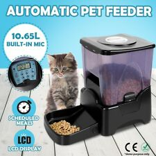 10.65L Automatic Program Digital Pet Cat Dog Auto Feeder Food Bowl Dispenser LCD