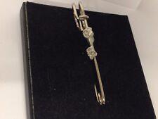 """Dog Rope Bone TG416 Pewter Scarf and Kilt Pin Pewter 3"""" 7.5 cm"""