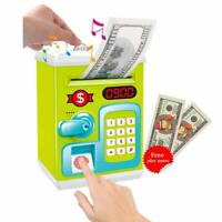 Electronic Kids Money Password Piggy Bank Fingerprint Lock Mini ATM Saving Box
