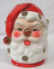 Vintage Inarco Santa Claus Candle Lantern with Marble Nose Circa 1960s Japan