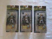 Toy Biz Lord of the Rings LOTR Return King Gondorian Swordsman Lot Set of 3