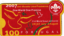 Boy Scout Badge 21 WORLD JAMBOREE UK 2007 PORTUGAL Cont