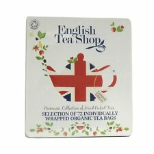 English Tea Shop Diamond Jubilee Assorted Organic Tea Bags Gift Tin (72 Sachets)