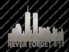 Never Forget 911 Police Fire Rescue EMT Military Patriotic Metal Wall Art Sign