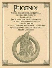 Phoenix Evocation Parchment Book of Shadows Page!