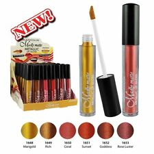 KLEANCOLOR Set of 6 Colors Madly Matte Metallic Lip Gloss Set (LG1819) Lasting