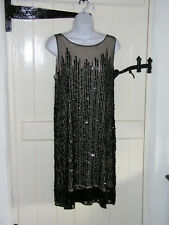 MONSOON SEQUINNED DRESS NUDE LINING SIZE 16