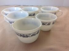 PYREX CORELLE OLD TOWN BLUE ONION COFFEE CUPS LOT OF 6