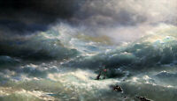 The Wave Painting by Ivan Aivazovsky Art Reproduction
