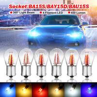 NEW 4 LED P21W BA15S 1156 Canbus Backup Reversing Light Reverse Lamp White Amber