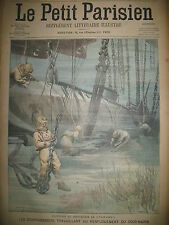 SCAPHANDRIER SOUS-MARIN FARFADET DIRIGEABLE LEBAUDY N° 2 LE PETIT PARISIEN 1905