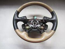 04 Land Rover Freelander Black & Beige Steering Wheel QTB000490SMS