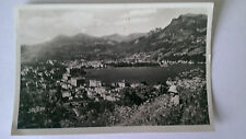 Lugano Switzerland B&W Postcard 1954