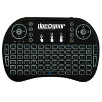 Small Wireless Backlit Keyboard Smart Remote w/ Touchpad Mouse 2.4GHz Deco Gear