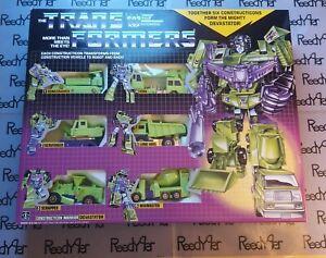 USA New TRANSFORMERS G1 Reissue DEVASTATOR 6 Constructicons Decepticons Combiner